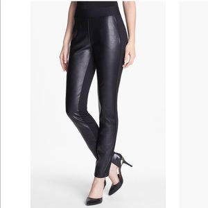 NYDJ Black Ponte Faux Leather Legging